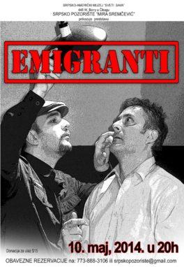 Predstava: Emigranti, March 2013